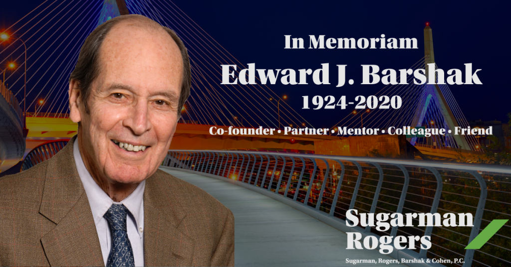 In Memoriam - Edward Barshak